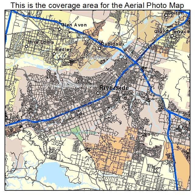 Riverside, CA location map
