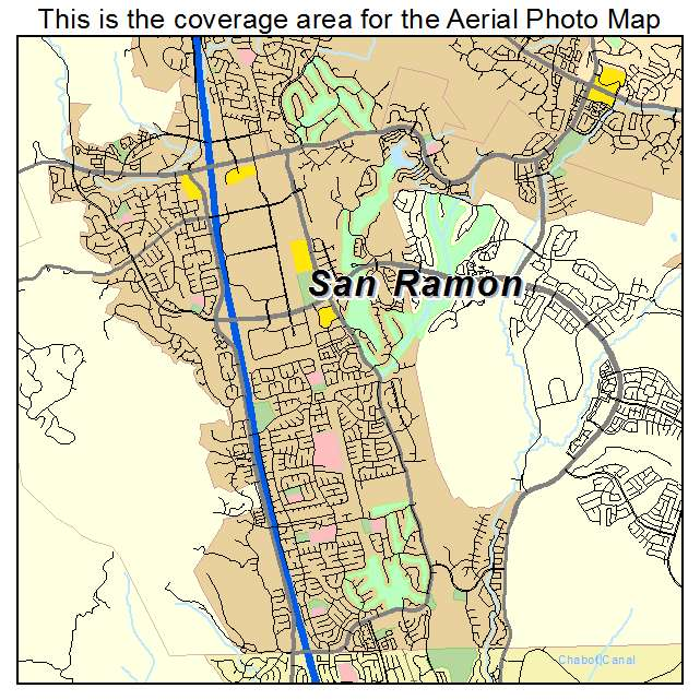 San Ramon Ca Map Aerial Photography Map of San Ramon, CA California