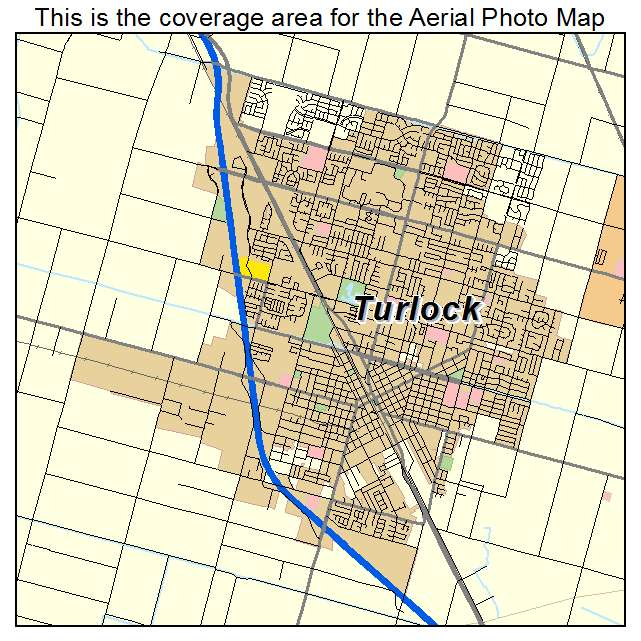Turlock Ca California Aerial Photography Map 2014