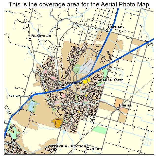 Map Of California Vacaville.Vacaville Ca California Aerial Photography Map 2014