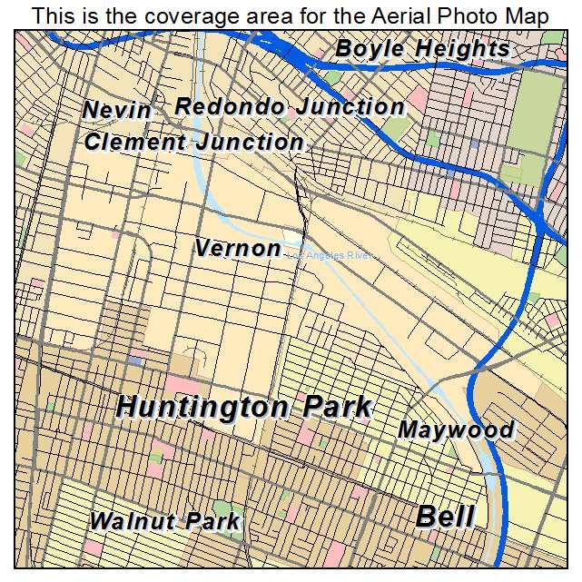 Vernon Ca Map Aerial Photography Map of Vernon, CA California