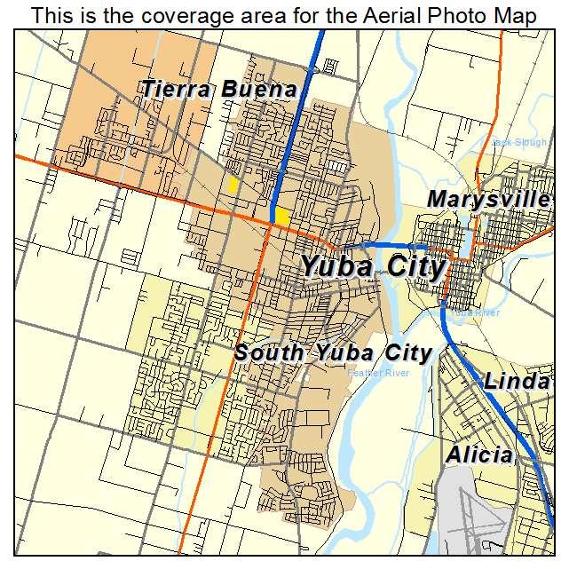 Map Of California Yuba City.Yuba City Ca California Aerial Photography Map 2014