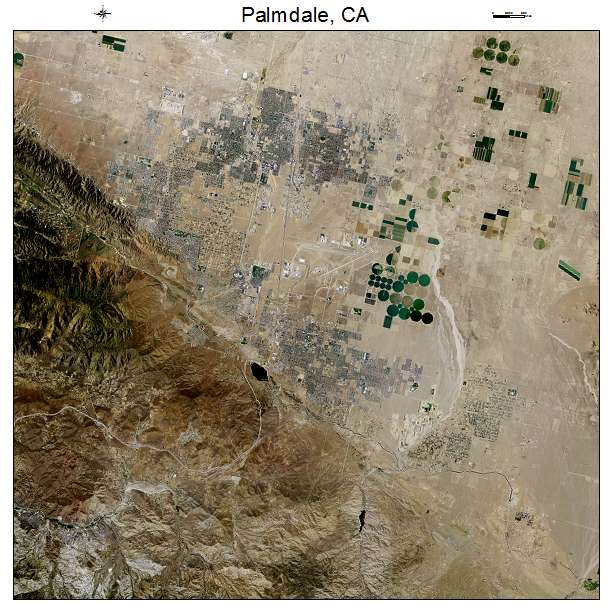 Palmdale, CA air photo map