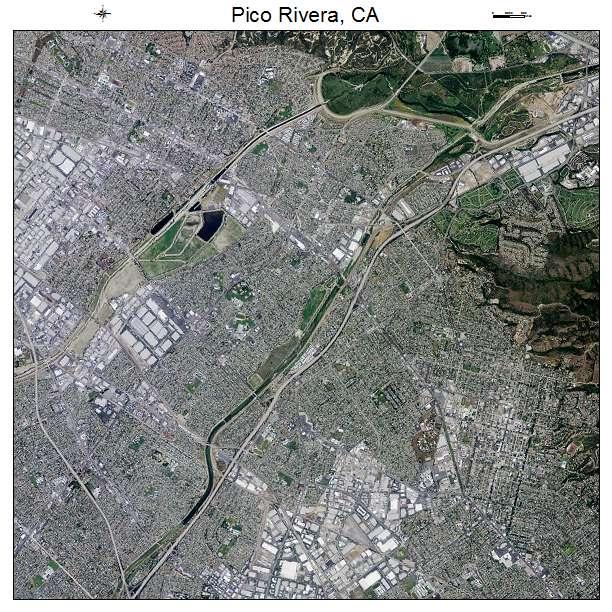 Haunted Places In Pico Rivera California: Aerial Photography Map Of Pico Rivera, CA California
