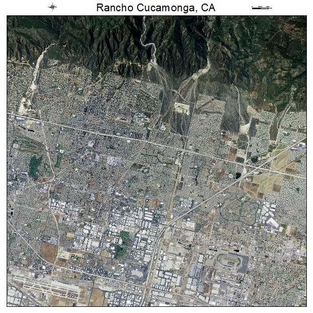 Rancho Cucamonga, CA air photo map