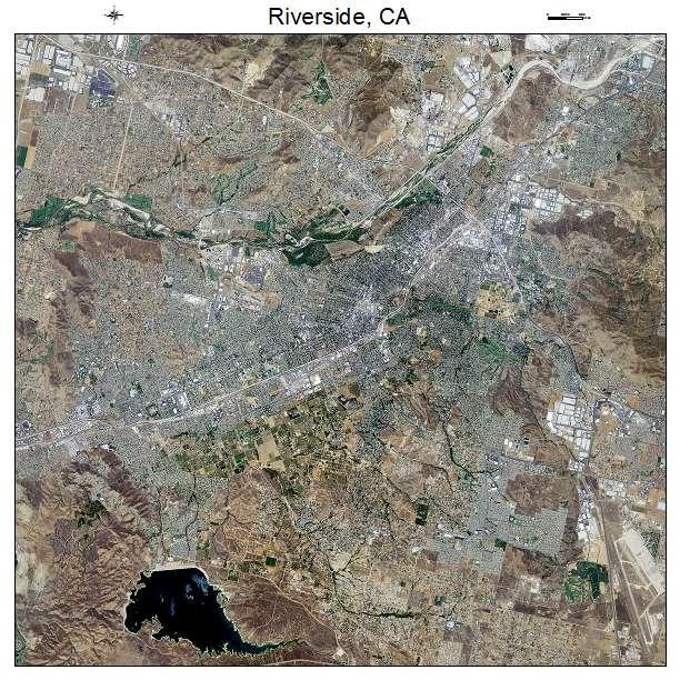 Riverside, CA air photo map