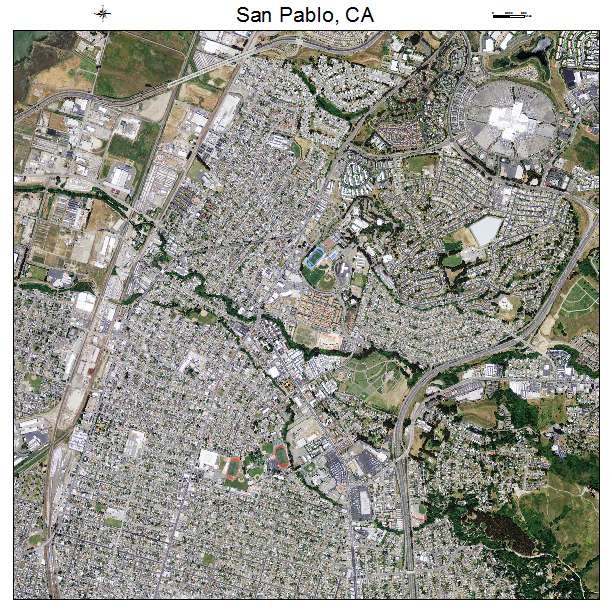 Aerial Photography Map of San Pablo, CA California