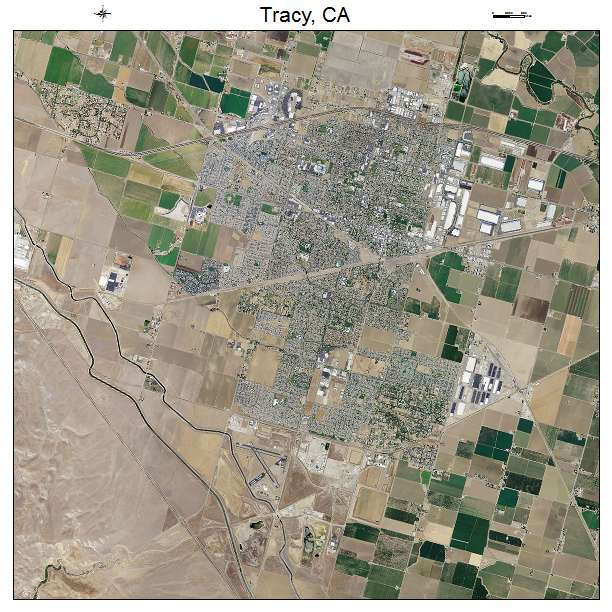 Aerial Photography Map of Tracy CA California