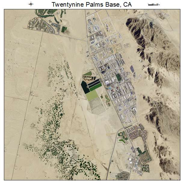 Map Of California 29 Palms.Aerial Photography Map Of Twentynine Palms Base Ca California