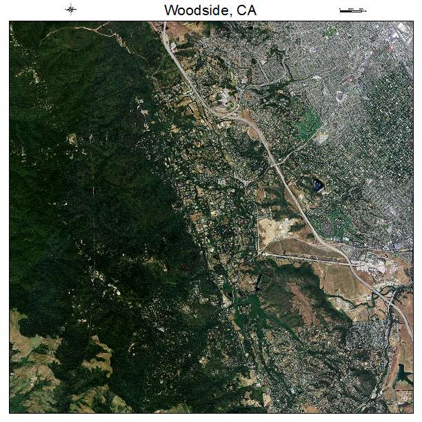 Aerial Photography Map Of Woodside Ca California