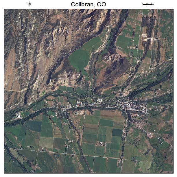 Aerial Photography Map of Collbran, CO Colorado