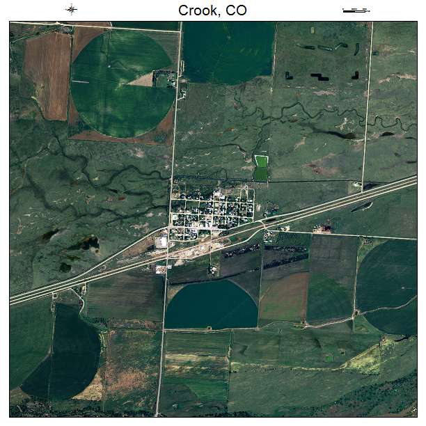 Crook, CO air photo map