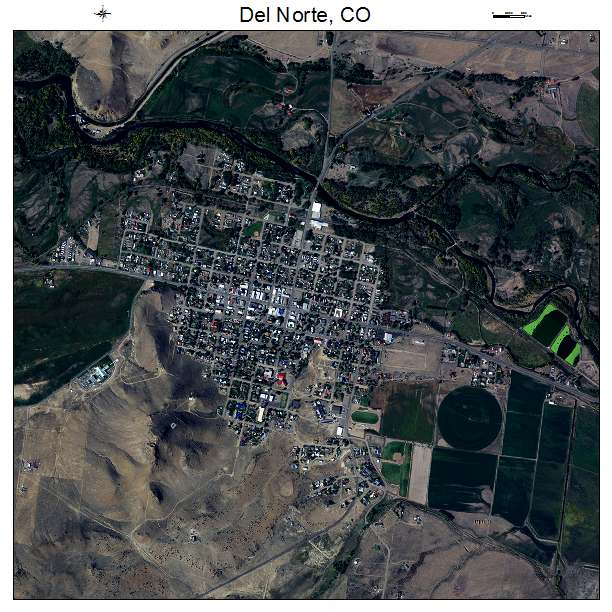 Aerial Photography Map Of Del Norte CO Colorado