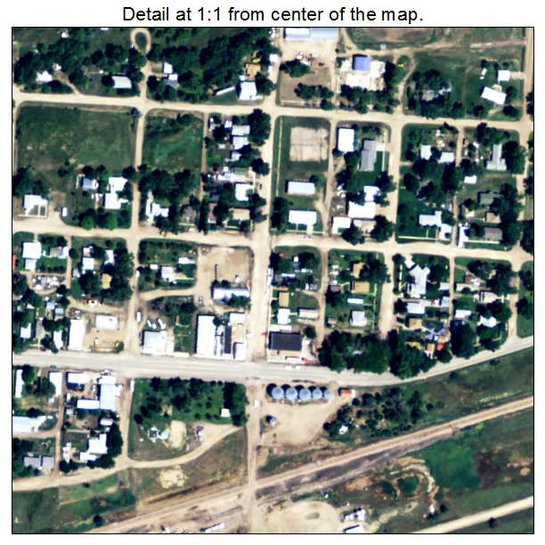 Crook, Colorado aerial imagery detail