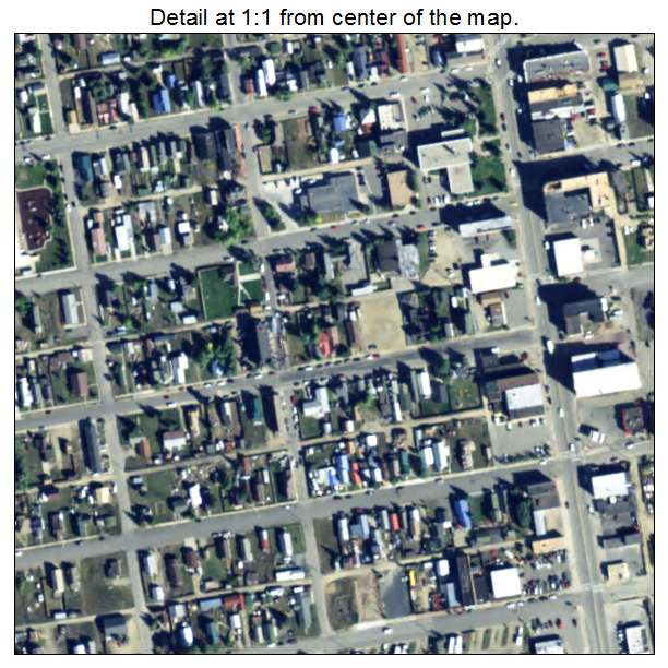 Leadville, Colorado aerial imagery detail