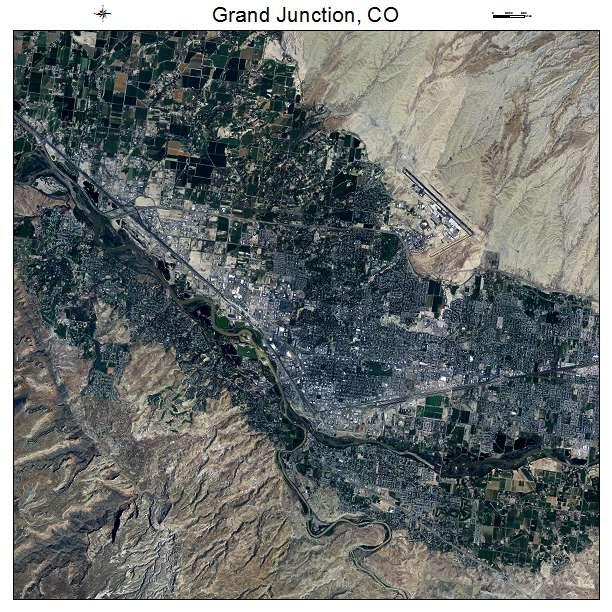 Grand Junction, CO air photo map
