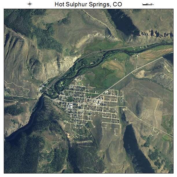 Hot Sulphur Springs Colorado Map.Aerial Photography Map Of Hot Sulphur Springs Co Colorado