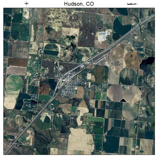 Aerial Photography Map Of Hudson Co Colorado