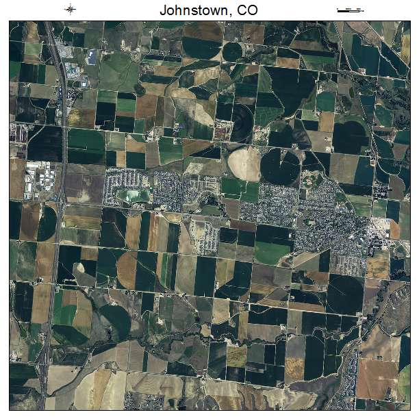 Johnstown, CO air photo map