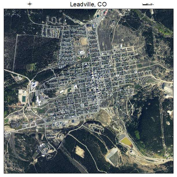 Leadville, CO air photo map