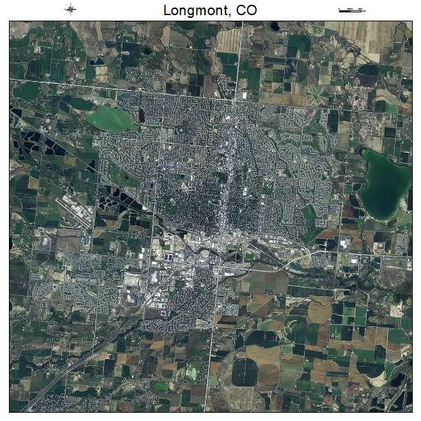 Longmont, CO air photo map