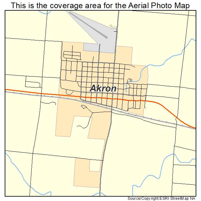 Aerial Photography Map Of Akron Co Colorado