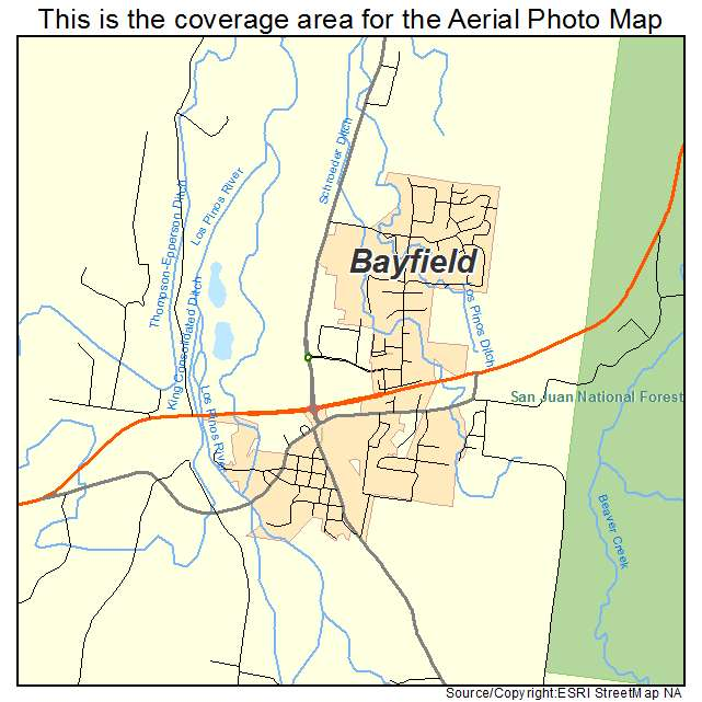 Aerial Photography Map of Bayfield, CO Colorado