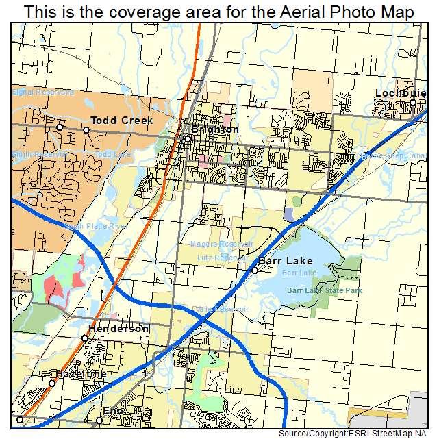aerial photography map of brighton co colorado