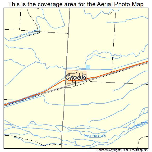 Crook, CO location map