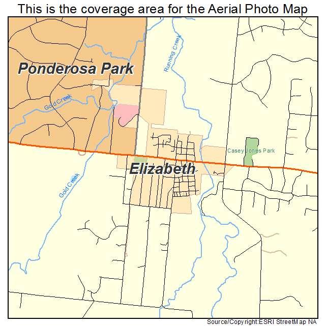 Elizabeth Co Colorado Aerial Photography Map 2015