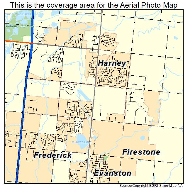 Aerial Photography Map Of Firestone Co Colorado