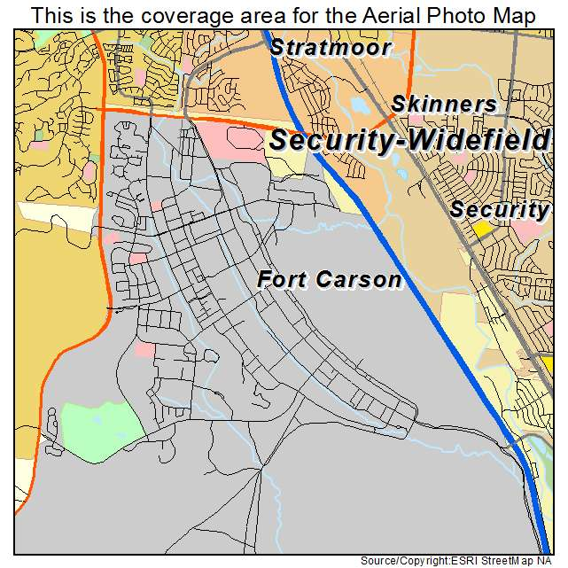Aerial Photography Map Of Fort Carson Co Colorado