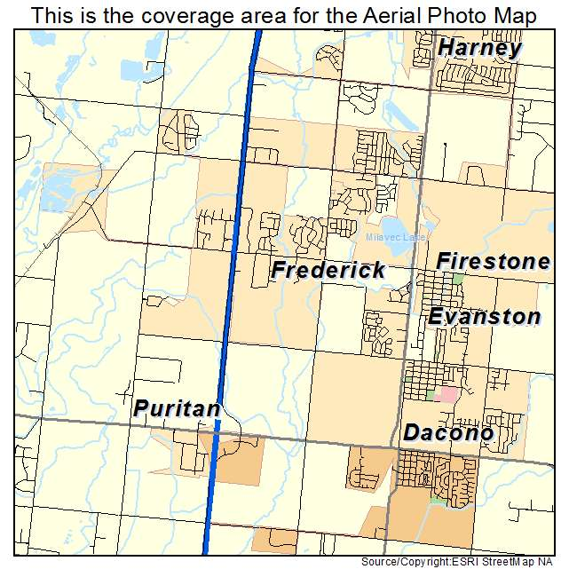 Aerial Photography Map of Frederick, CO Colorado