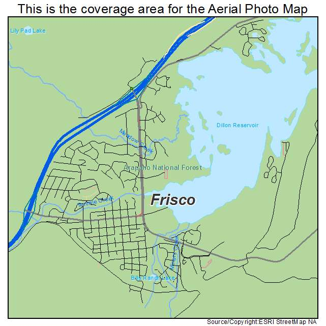 Aerial Photography Map of Frisco CO Colorado