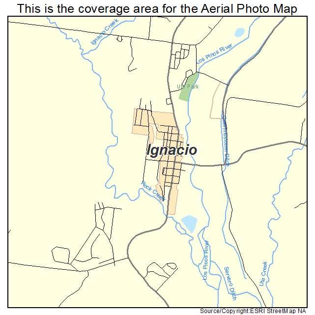 Aerial Photography Map Of Ignacio Co Colorado