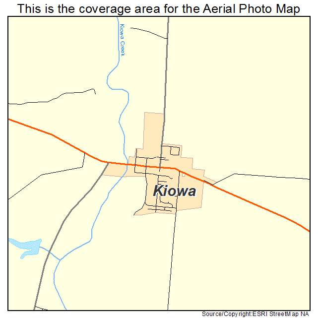 Aerial Photography Map of Kiowa, CO Colorado