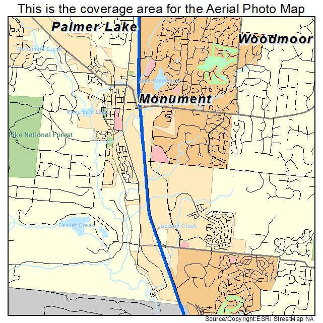 Aerial Photography Map of Monument, CO Colorado