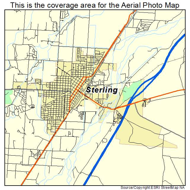 Sterling Colorado Map Aerial Photography Map of Sterling, CO Colorado