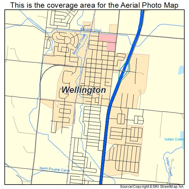 Map Of Wellington Colorado Aerial Photography Map of Wellington, CO Colorado