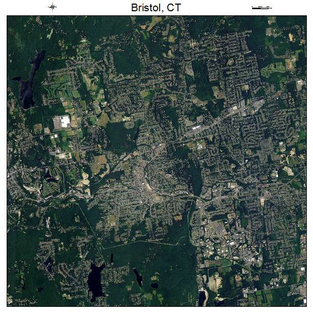 Bristol, CT Connecticut Aerial Photography Map 2014