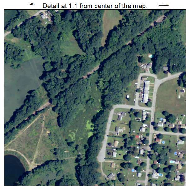 Plainfield Village, Connecticut aerial imagery detail