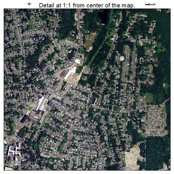 Waterbury, Connecticut aerial imagery detail