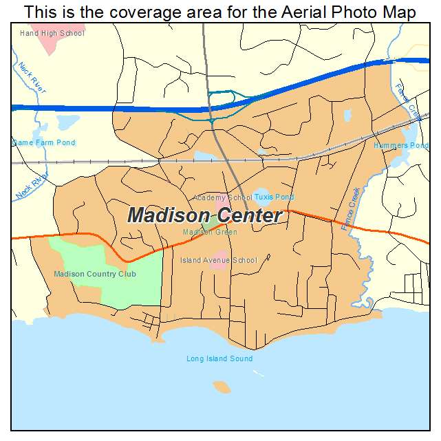 Aerial Photography Map Of Madison Center CT Connecticut