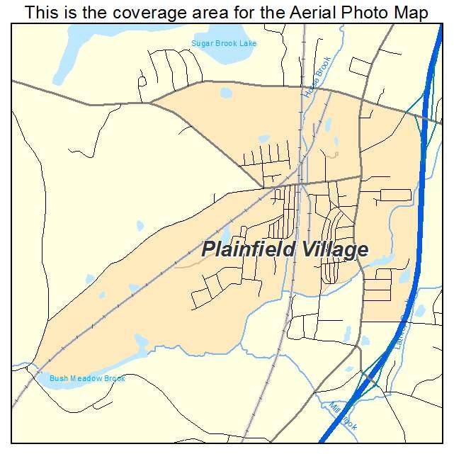 Plainfield Village, CT location map