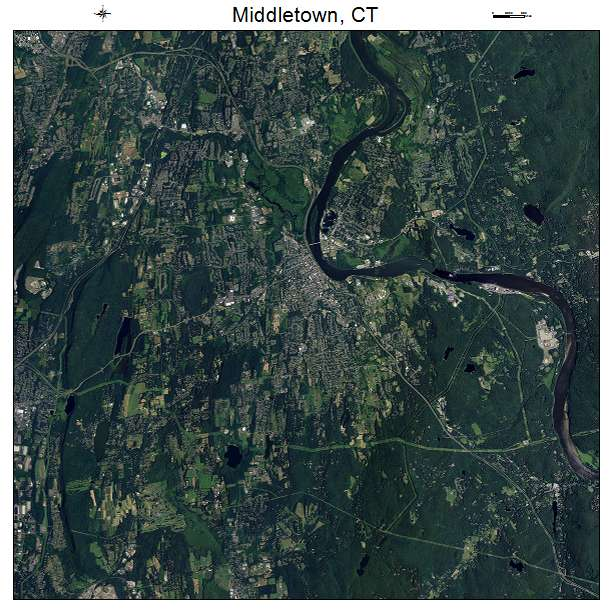 Middletown, CT air photo map