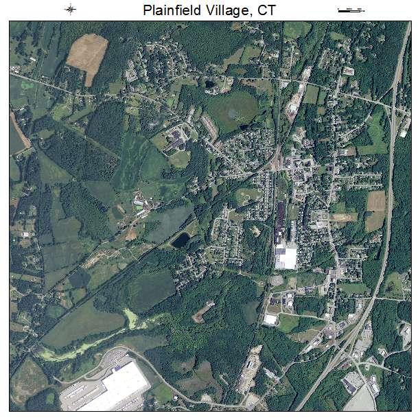 Plainfield Village, CT air photo map
