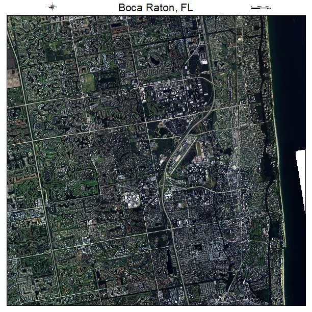 Boca Raton, FL air photo map