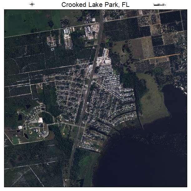 Lake Park Florida Map.Aerial Photography Map Of Crooked Lake Park Fl Florida