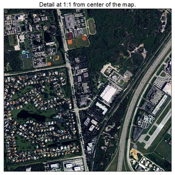 Boca Raton, Florida aerial imagery detail