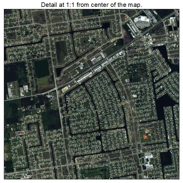 Aerial Photography Map Of Cape Coral, FL Florida
